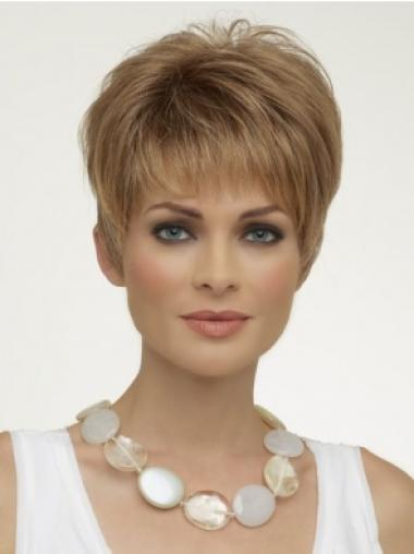 Short Capless Blonde Sassy Synthetic Wigs