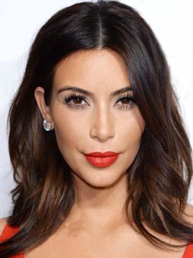 Shoulder Length Wavy Auburn New Kim Kardashian Wigs