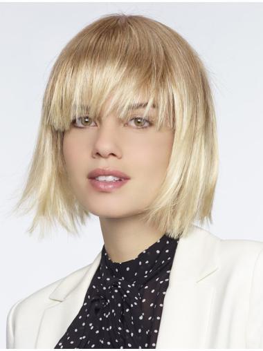 "Blonde Straight 10"" Durable Monofilament Wigs"