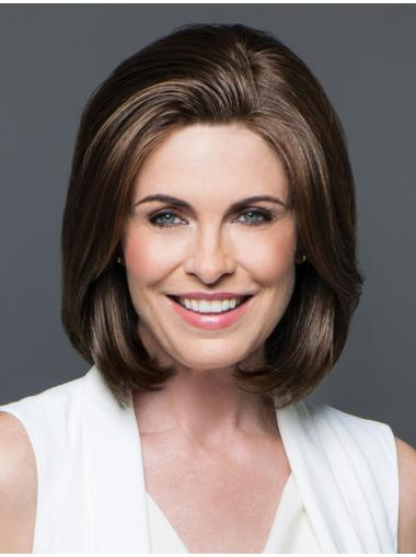 Brown Capless Lace Front Chin Length Bob Wigs