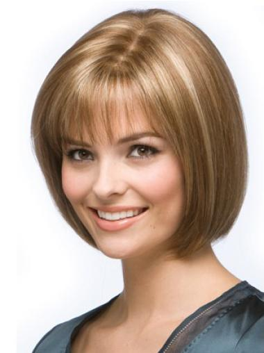 Short Human Hair Cancer Wigs