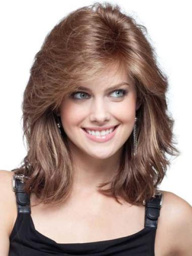 Medium Wavy Lace Front Human Hair Cancer Wigs