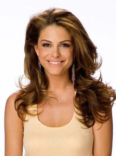 """Style Brown Lace Front Wavy 20"""" Human Hair Wigs"""