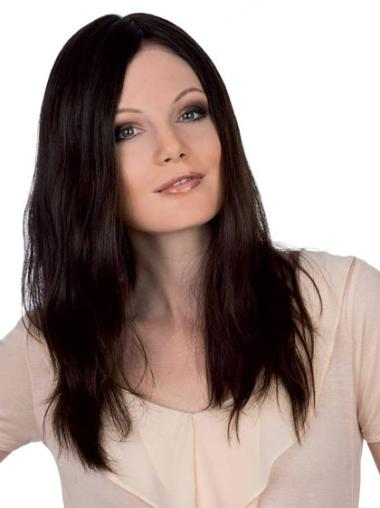 Auburn Lace Front Straight Long Human Hair Wigs