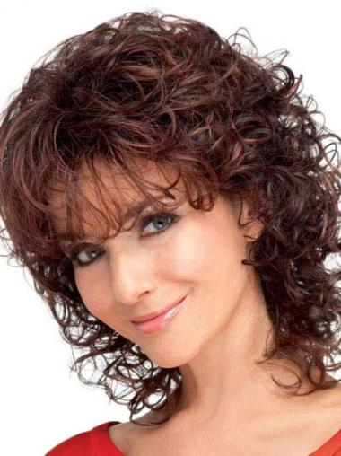 Medium Capless Auburn Comfortable Synthetic Wigs