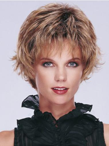 Hairstyles Brown Capless Curly Synthetic Short Wigs