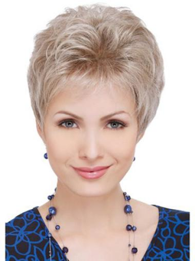 Suitable Quality Blonde Lace Front Curly Synthetic Short Wigs