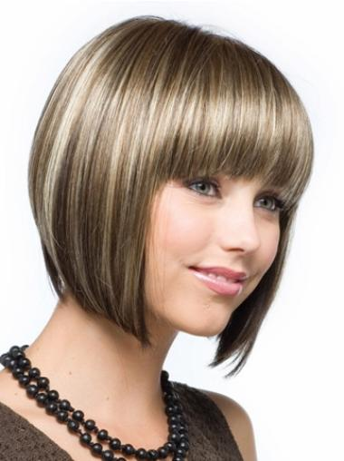 Fabulous Brown Capless Straight Synthetic Short Wigs