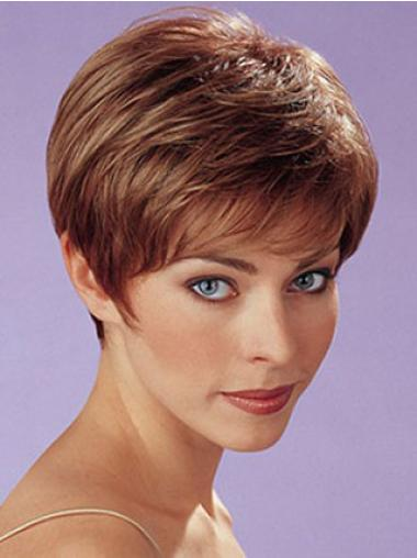 Great Auburn Capless Straight Synthetic Short Wigs