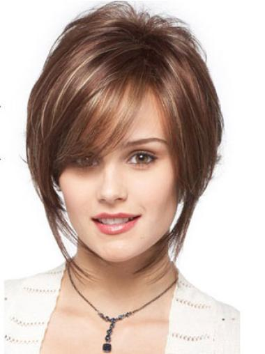 Perfect Brown Capless Wavy Synthetic Short Wigs