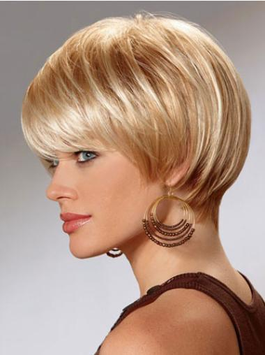 Suitable Capless Auburn Straight Synthetic Short Wigs