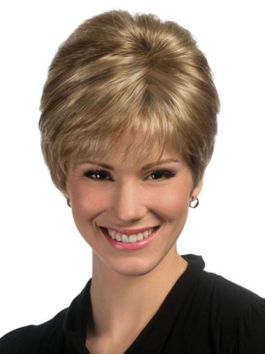 Blonde Great Capless Straight Synthetic Short Wigs