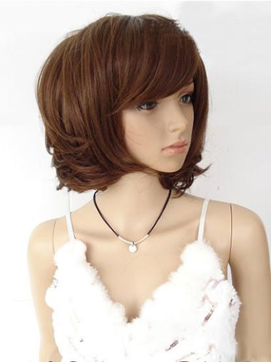Straight Synthetic Short Capless Brown Beautiful Wigs