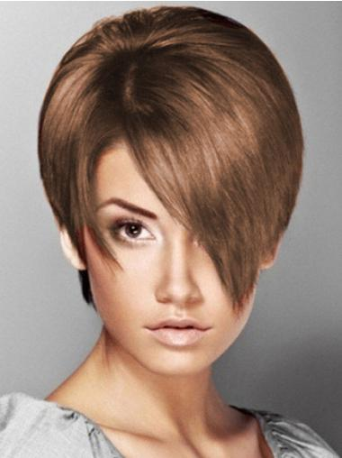 Straight Synthetic Short Capless Brown Fashionableable Wigs