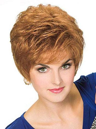 Straight Synthetic Short Full Lace Blonde Convenient Wigs